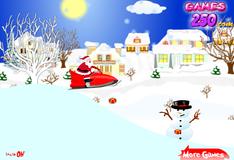 Игра Дед Мороз спешит к детям