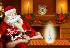 Побрить Деда Мороза