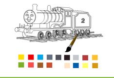 Игра Томас и его друзья Раскраска