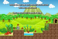 Игра Игра на двоих: Динозаврики охотятся за мясом