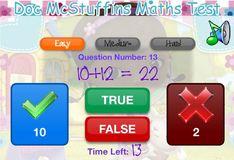 Игра Доктор Плюшева: Тест по математике