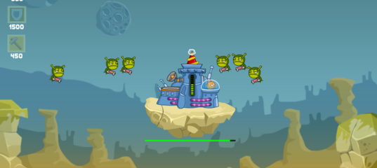 Игра Оборона: Зеленые Слизни