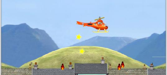 Игра Пожарный Сэм: Вертолет - Сила пламени