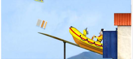 Игра Пожарный Сэм: Надувная лодка