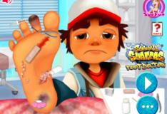 Игра Игра Сёрфер подземки и доктор по ноге 2