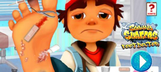 Игра Сёрфер подземки и доктор по ноге 2