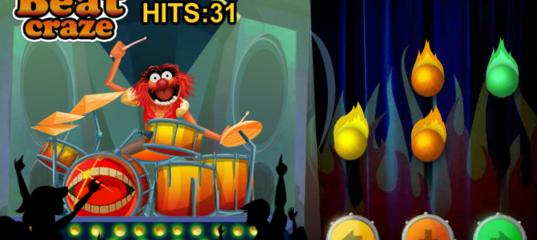 Игра Маппеты: безумные животные на барабанах