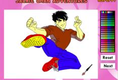 Игра Игра Раскраска онлайн: Приключения Джеки Чана