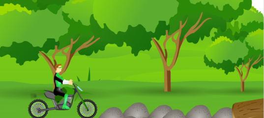 Игра Зеленый Фонарь - заезд на байке