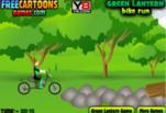 Играть бесплатно в Игра Зеленый Фонарь заезд на байке