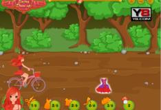 Игра Красная шапочка на велосипеде