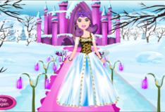 Игра Игра Одевалка Снежная принцесса