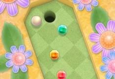 Игра Мини-гольф в саду