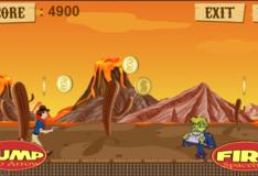 Игра ГТА: Игра Ковбой стреляет по зомби