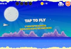 Игра Игры Летящий бумажный самолетик