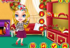 Игра Рождественское перевоплощение малышки Барби