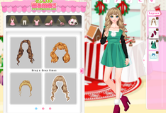 Игра Эльза выбирает наряд на Рождество