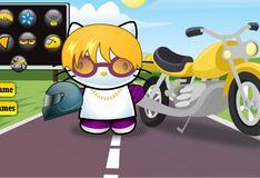 Игра Игра Хелло Китти гонщица на мотоцикле