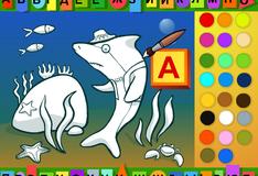Игра Раскраска азбука
