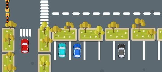 Экстремальная парковка автомобиля