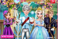 Игра Игра Свадебный Поцелуй Эльзы