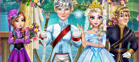 Игра на двоих: Свадебный Поцелуй Эльзы