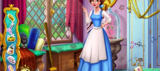 Игра Белль шьет костюм для Зверя