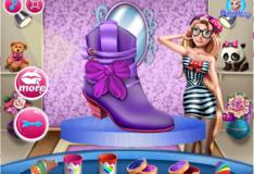 Игра Игра Обувь Принцессы Барби