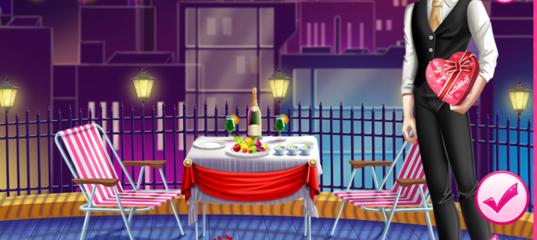 Ужин на крыше в день Святого Валентина