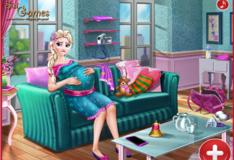Игра Игра Эльза молодая мама