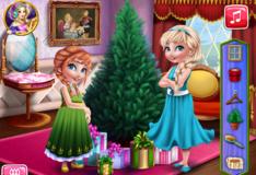 Игра Игра Анна и Эльза готовлятся к Рождеству