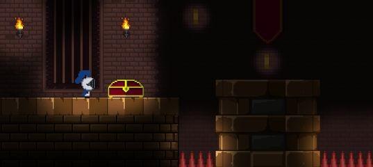 Беготня в пиксельном замке