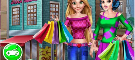 Игра Принцессы в торговом центре