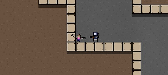 Пещера с роботами