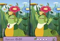 Игра Игра Лунтик ищет отличия на картинках