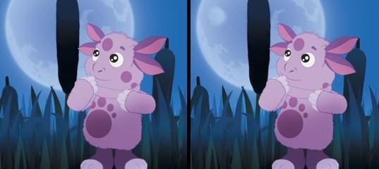 Игра Лунтик ищет отличия ночью