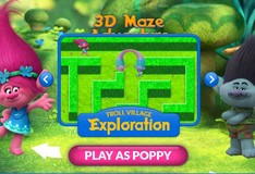 Игра Игра Тролли 3D Лабиринт приключений