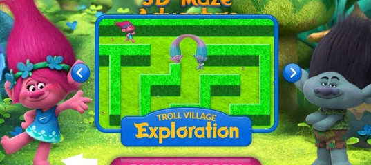 Игра Тролли 3D Лабиринт приключений