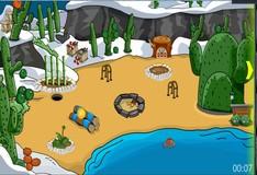 Игра Побег со снежной горки