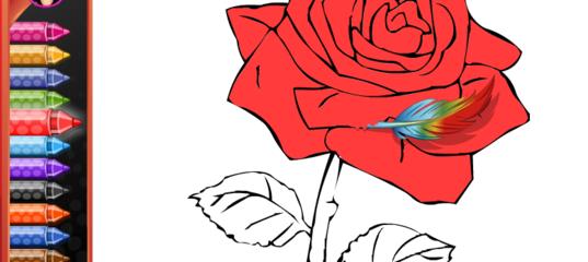 Игра Раскраска Цветы