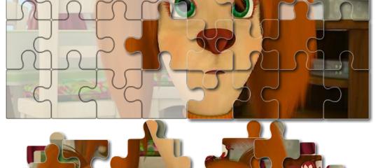 Игра Барбоскины: Зеленоглазая Лиза - Пазл