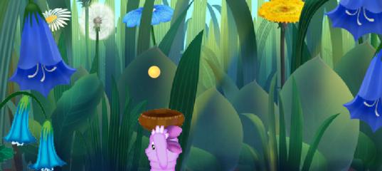 Игра Помоги Лунтику собрать всю пыльцу
