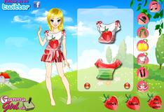 Игра Кукла с нарядом фруктовой тематики