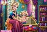 Игра Эльза купает свою дочку