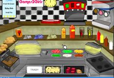 Кухня для приготовления бургеров