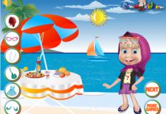 Игра Игра Маша и медведь: Маша на пляже