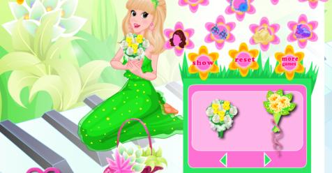 Игра Романтические цветы принцессы