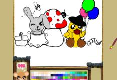 Игра Игра Онлайн раскраска зайчика