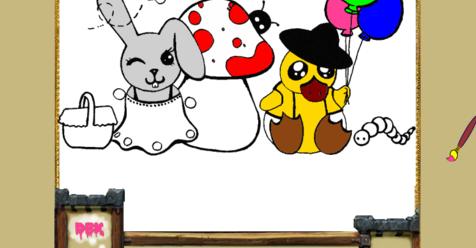 Игра Онлайн раскраска зайчика