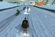 Игра Гонки на снегоходах 3D